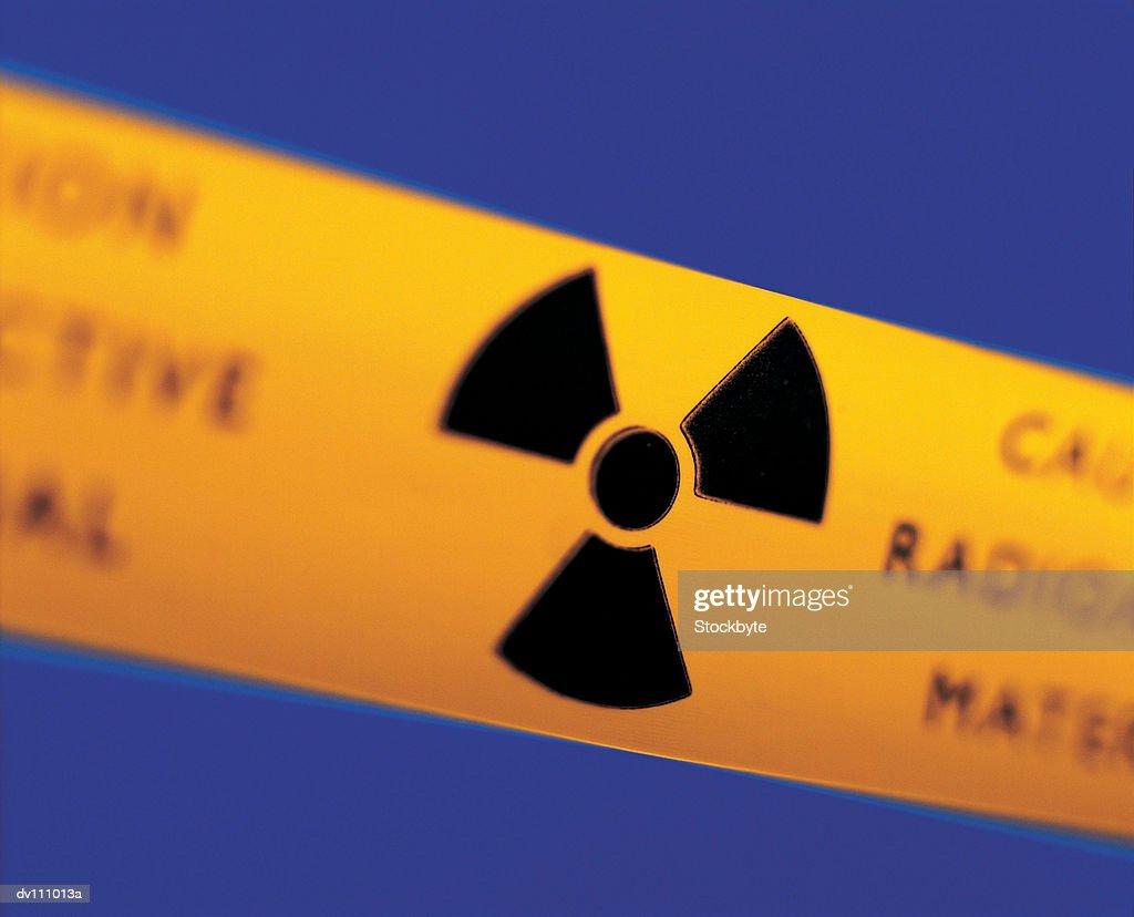Radioactive warning sign : Stock Photo