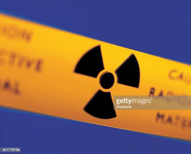 Radioactive warning sign