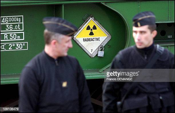 Radioactive Waste Train Coming At Blainville Sur L'Eau France On December 11Th 2002 In Blainville Sur L'Eau France In Blainville Sur L'Eau France