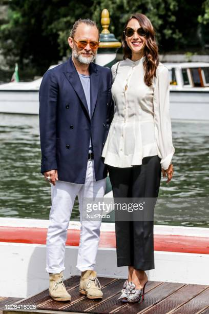 Radiohead frontman Thom Yorke and Dajana Roncione is seen during the 75th Venice Film Festival on September 01, 2018 in Venice, Italy.