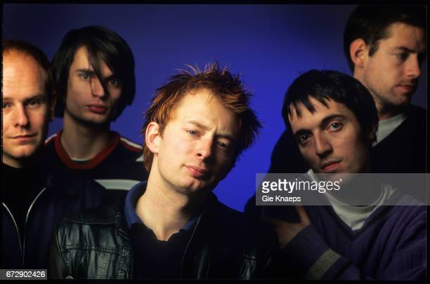 Radiohead Phil Selway Jon Greenwood Thom Yorke Colin Greenwood Ed O'Brien Luna theater Brussels Belgium