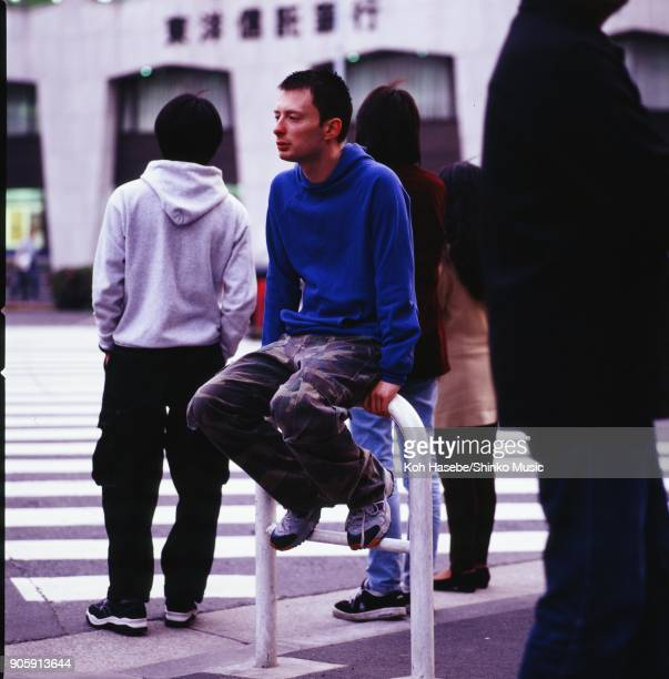 Radiohead taken on the street December 1997 Tokyo Japan Thom Yorke