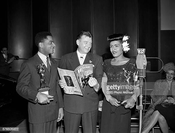 Radios Arthur Godfrey Time featuring Arthur Godfrey with the winners of the Golden Esquire Jazz Award Billie Holiday and Teddy Wilson January 13 1947...