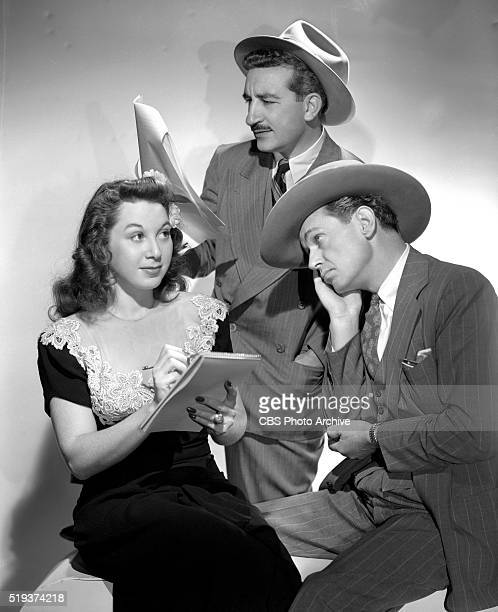 Radio's I Love A Mystery From left to right Gloria Blondell Michael Raffetto as Jack Packard of A1 Detective Agency and Barton Yarborough as Doc Long...