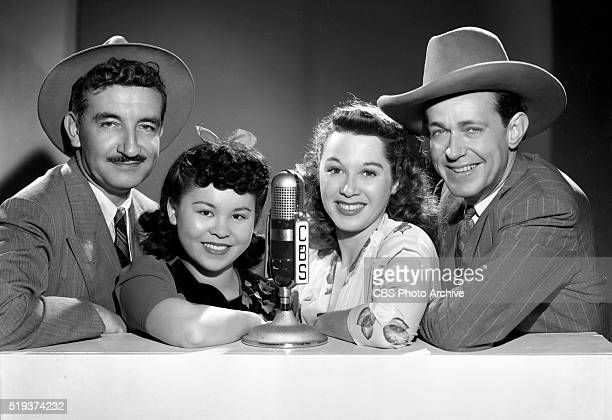 Radio's I Love A Mystery From left to right Michael Raffetto as Jack Packard of A1 Detective Agency Barbara Jean Wong Gloria Blondell and Barton...