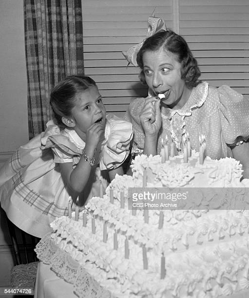 Radios The Baby Snooks Show celebrates its 25th anniversary Fanny Brice and visiting guest Nancy Sinatra Hollywood CA Image dated March 1 1946