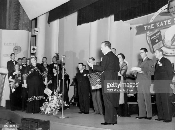Radio's The Kate Smith Hour featuring Kate Smith and master of ceremonies and producer Ted Collins Image dated September 29 1938