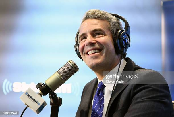 Radio/TV personality Andy Cohen hosts Radio Andy at SiriusXM Studios on September 25 2017 in New York City