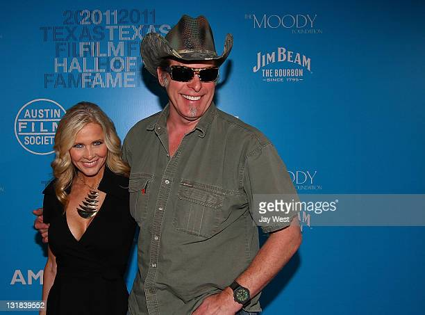 Radio/TV personality Shemane Nugent and husband musician Ted Nugent attend the Texas Film Hall Of Fame Awards at Austin Studios on March 10 2011 in...