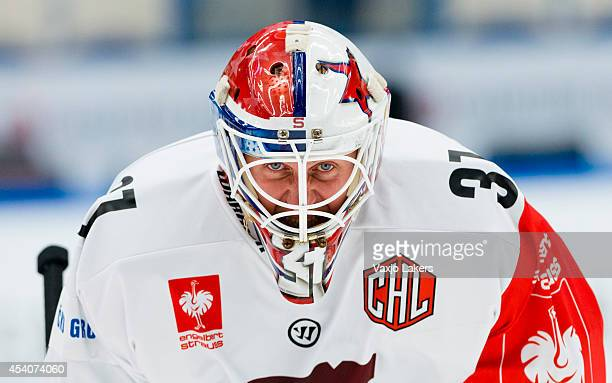 Radislav Stana of Sparta Prague is seen during the Champions Hockey League group stage game between Vaxjo Lakers and Sparta Prague on August 24, 2014...