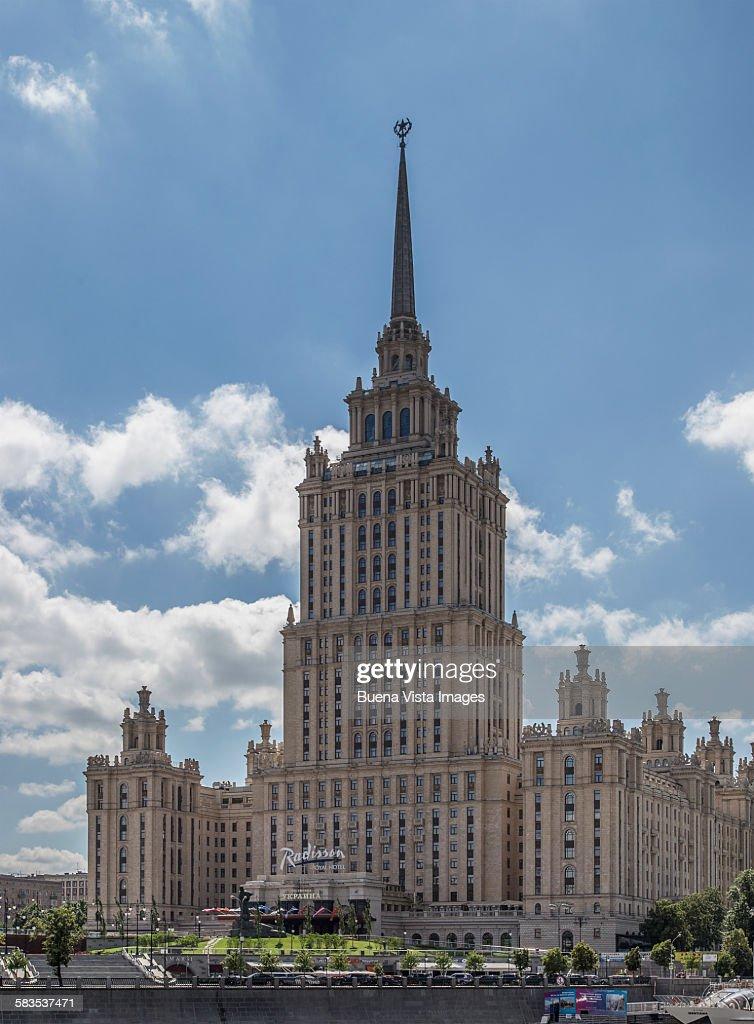 Radisson Royal Hotel (Hotel Ukraina), Moscow, Russ : Stock Photo