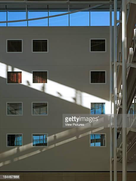 Radisson Sas, Stansted, United Kingdom, Architect Aukett Fitzroy Robinson, Radisson Sas Interior Wall With Sunshine