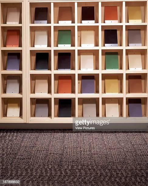 Radius, Biggin Hill, United Kingdom, Architect Interface, Radius Portrait View Of Flooring And Coloured Tiles.