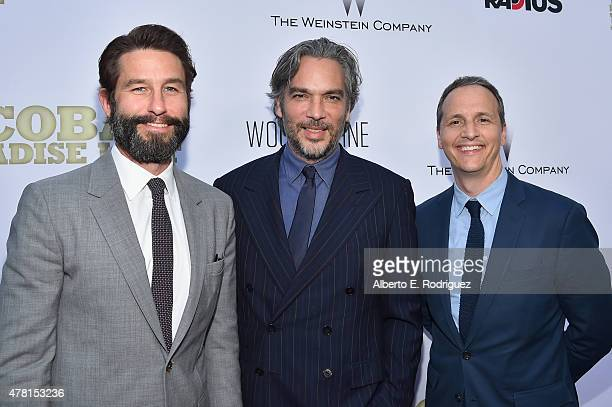 RadiusTWC CoPersident Jason Janego Director Andrea Di Stefano and RadiusTWC CoPersident Tom Quinn attends the premiere of RADiUS and The Weinstein...