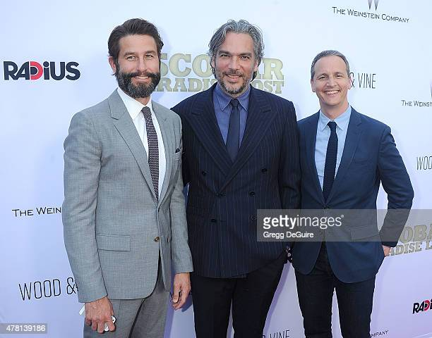RadiusTWC CoPresident Jason Janego Director Andrea Di Stefano and RadiusTWC CoPresident Tom Quinn arrive at the Los Angeles premiere of Escobar...