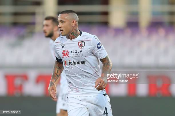Radja Naiggolan of Cagliari Calcio in action during the Serie A match between ACF Fiorentina and Cagliari Calcio at Stadio Artemio Franchi on July 8,...