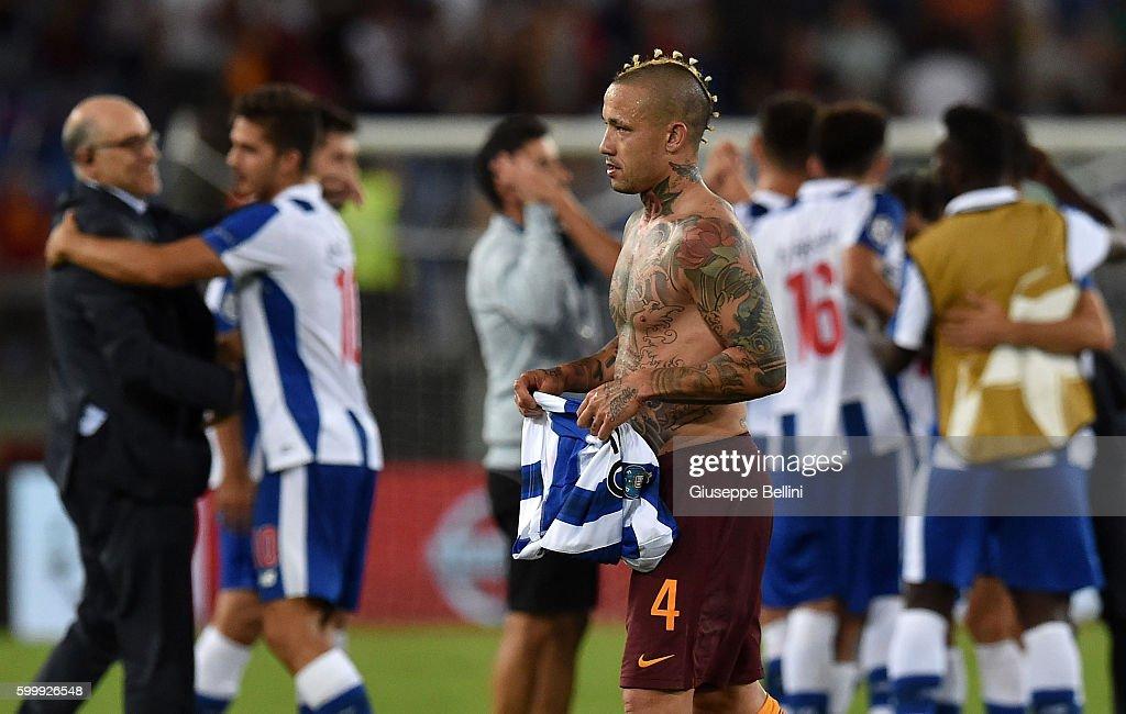 AS Roma v FC Porto - UEFA Champions League Qualifying Play-Offs Round: Second Leg : News Photo