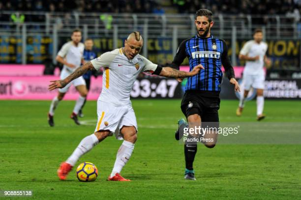 Radja Nainggolan of AS Roma during Serie A football FC Inter versus AS Roma FC inter and AS Roma finish the match 11