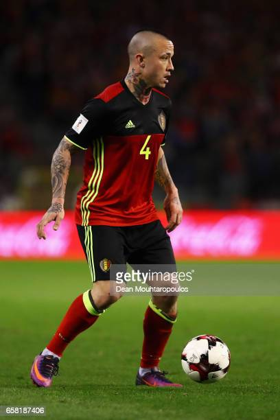 Radja Nainggolan of Belgium in action during the FIFA 2018 World Cup Group H Qualifier match between Belgium and Greece at Stade Roi Baudouis on...