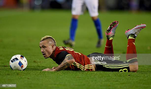 Radja Nainggolan of Belgium in action during the international friendly match between Belgium and Italy at King Baudouin Stadium on November 13 2015...