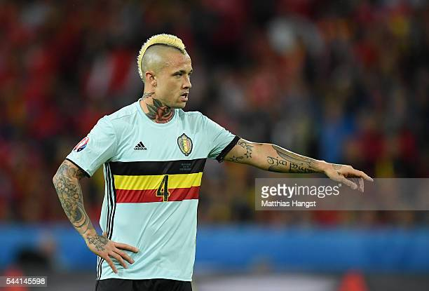 Radja Nainggolan of Belgium in action during the UEFA EURO 2016 quarter final match between Wales and Belgium at Stade PierreMauroy on July 1 2016 in...