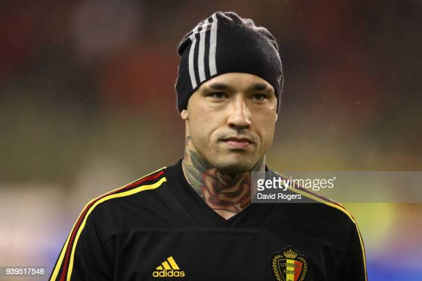Radja Nainggolan of Belgium looks on during the international friendly match between Belgium and Saudi Arabia at the King Baudouin Stadium on March...