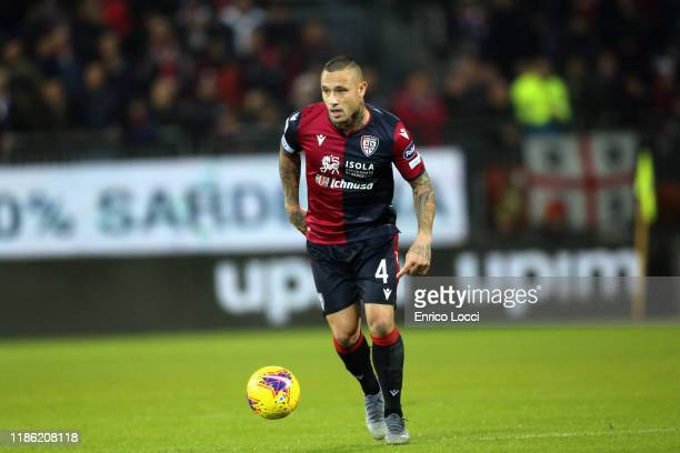 Radja Nainggolan of Cagliari in action during the Serie A match between Cagliari Calcio and UC Sampdoria at Sardegna Arena on December 2 2019 in...