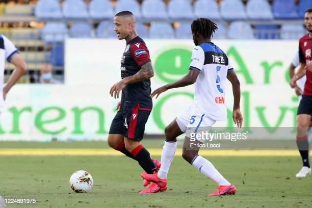 Radja Nainggolan of Cagliari in action during the Serie A match between Cagliari Calcio and Atalanta BC at Sardegna Arena on July 5 2020 in Cagliari...