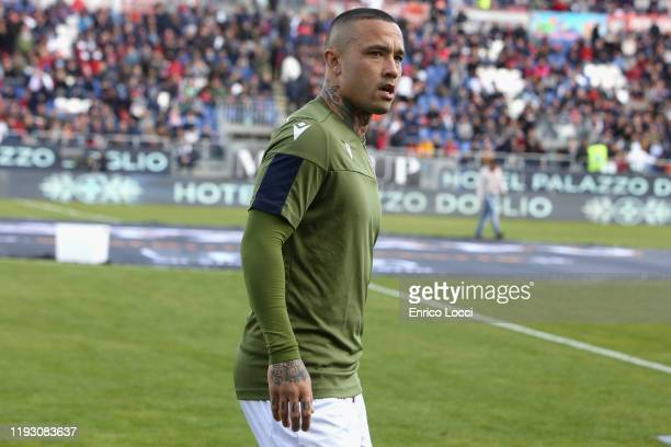 Radja Nainggolan of Cagliari looks on during the Serie A match between Cagliari Calcio and AC Milan at Sardegna Arena on January 11 2020 in Cagliari...