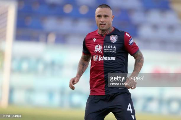 Radja Nainggolan of Cagliari looks on during the Serie A match between Cagliari Calcio and Torino FC at Sardegna Arena on June 27 2020 in Cagliari...