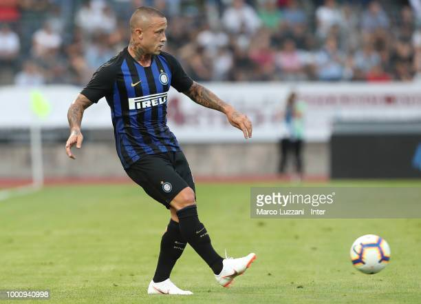 Radja Nainggolan of FC Internazionale in action during the preseason friendly match between Lugano and FC Internazionale on July 14 2018 in Lugano...