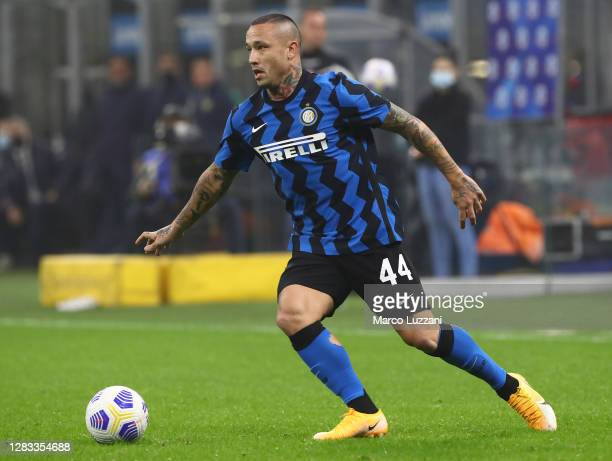 Radja Nainggolan of FC Internazionale in action during the Serie A match between FC Internazionale and Parma Calcio at Stadio Giuseppe Meazza on...