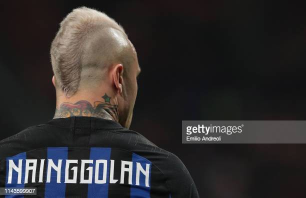 Radja Nainggolan of FC Internazionale is pictured during the Serie A match between FC Internazionale and Chievo at Stadio Giuseppe Meazza on May 13,...
