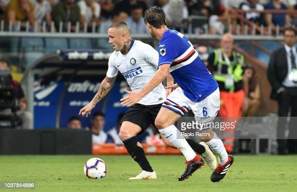 Radja Nainggolan of Inter in action during the serie A match between UC Sampdoria and FC Internazionale at Stadio Luigi Ferraris on September 22 2018...