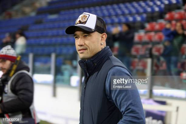 Radja Nainggolan of Inter looks on during the Serie A match between Cagliari and FC Internazionale at Sardegna Arena on March 1 2019 in Cagliari Italy