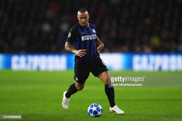 Radja Nainggolan of Inter Milan in action during the Group B match of the UEFA Champions League between PSV and FC Internazionale at Philips Stadion...