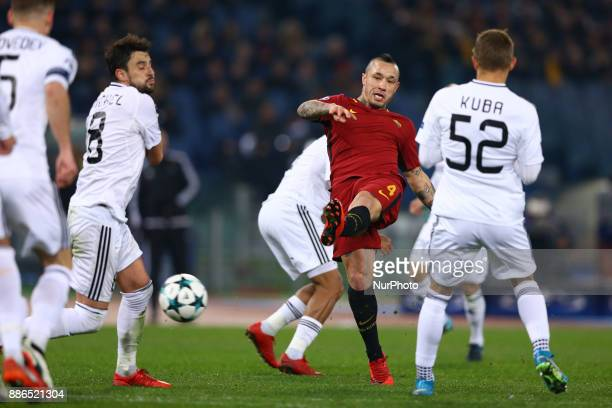 Radja Nainggolan of Roma in action during the UEFA Champions League Group C football match AS Roma vs FK Qarabag on December 5 2017 at the Olympic...