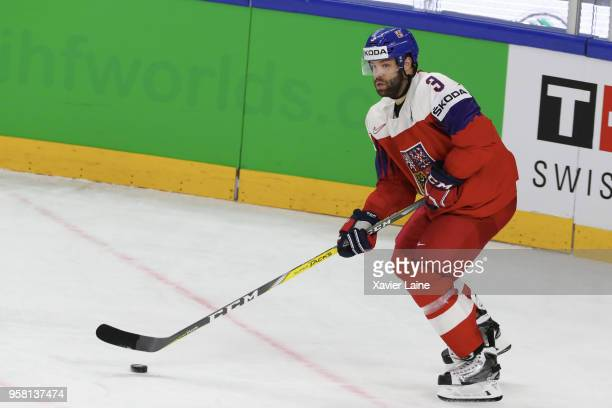 Radko Gudas of Czech Republic in action during the 2018 IIHF Ice Hockey World Championship Group A between France and Czech Republic at Royal Arena...
