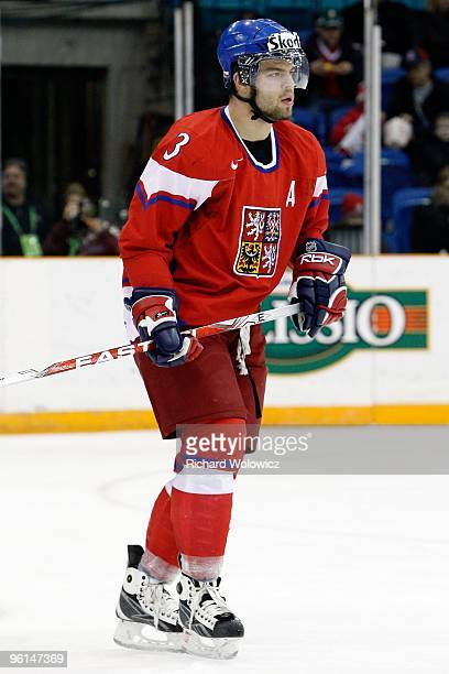 Radko Gudas of Team Czech Republic skates during the 2010 IIHF World Junior Championship Tournament Relegation game against Team Latvia on January 3...