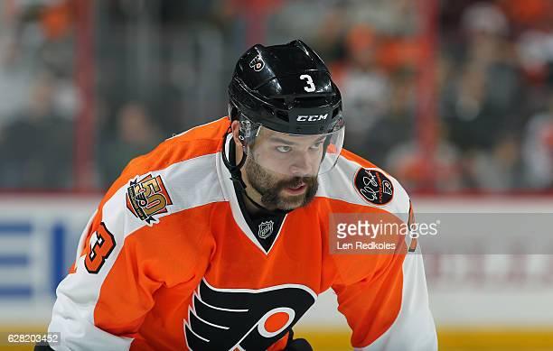 Radko Gudas of the Philadelphia Flyers looks on against the Boston Bruins on November 29 2016 at the Wells Fargo Center in Philadelphia Pennsylvania