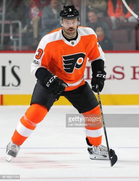 Radko Gudas of the Philadelphia Flyers skates against the Chicago Blackhawks on November 9 2017 at the Wells Fargo Center in Philadelphia Pennsylvania