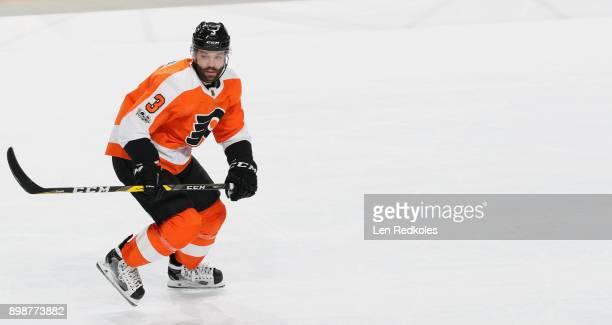 Radko Gudas of the Philadelphia Flyers skates against the Dallas Stars on December 16 2017 at the Wells Fargo Center in Philadelphia Pennsylvania