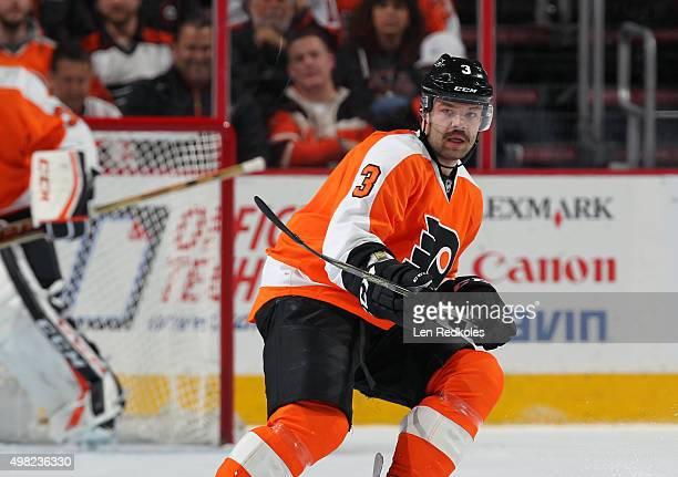 Radko Gudas of the Philadelphia Flyers skates against the Los Angeles Kings on November 17 2015 at the Wells Fargo Center in Philadelphia Pennsylvania