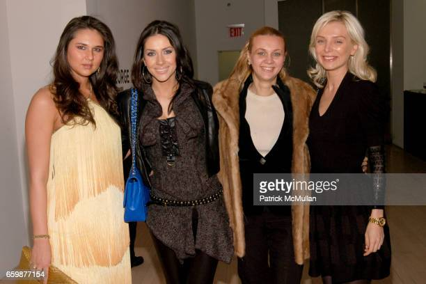 Radmila Lolly Larysa Alisa Roever and Olga Knyazheva attend STENDHAL GALLERY FLUXUS Christmas Party Sponsored By CIPRIANI DOWNTOWN at Stendhal...