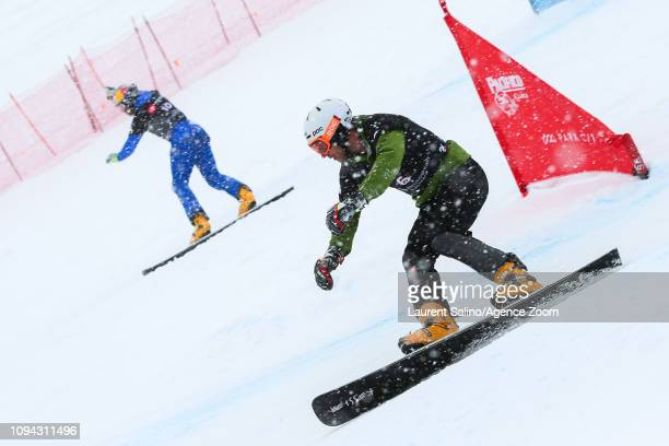 Radoslav Yankov of Bulgaria competes during the FIS World Snowboard Championships Men's and Women's Parallel Slalom on February 5 2019 in Park City...