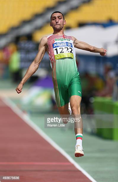 Radoslav Zlatanov of Bulgaria competes in the Men's Long Jump T13 Final during the Morning Session on Day One of the IPC Athletics World...