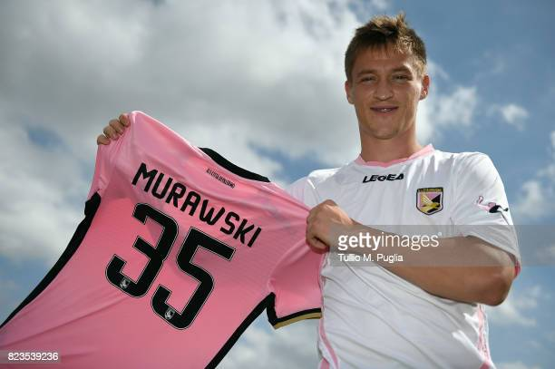 Radoslaw Murawski poses during his presentation as new player of US Citta' di Palermo at Carmelo Onorato training center on July 27 2017 in Palermo...