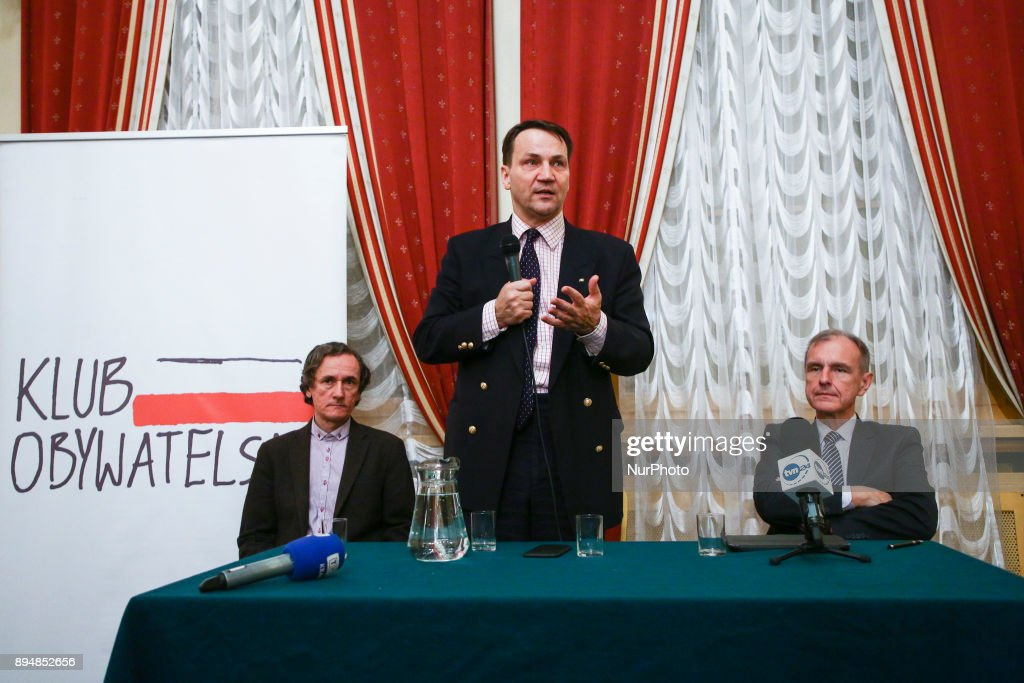 Radoslaw Sikorski at Citizens Club Meeting in Krakow