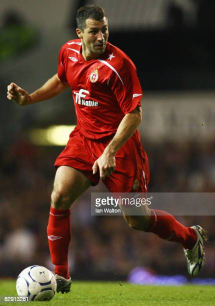 Radoslaw Sobolewski of Wisla Krakow in action during the UEFA Cup First Round First Leg match between Tottenham Hotspur and Wisla Krakow at White...