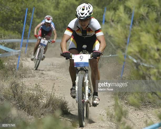 Radsport: Olympische Spiele Athen 2004, Athen; Mountainbike / Frauen; Sabine SPITZ / GER / Bronze 27.08.04.